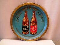 Vintage Advertising Tin Tray Nile Lager Beer Serving Beer Is Your Collectible *