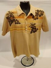 Ocean Pacific Op Tan Terry Cloth Polo Shirt Mens M as seen in 50 First Dates