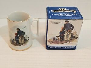 Norman Rockwell's Sea Farers Collection Mugs Looking Out To Sea Long John Silver