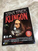 Star Trek KLINGON 3-CD Rom Interactive Adventure Learn Or Die Show Footage