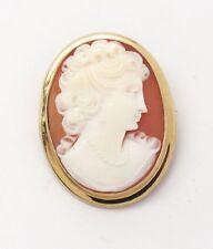Pin/ Brooch 14k Lady Cameo
