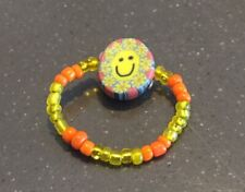 Seed Bead Rings With Fimo Clay Charms Lot of 100 Pieces Many Designs Asst