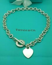 Tiffany & Co. Heart Tag Toggle Choker Sterling Silver Necklace