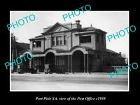 OLD LARGE HISTORIC PHOTO OF PORT PIRIE SA, VIEW OF THE POST OFFICE c1930