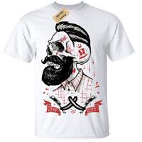 Bambini Ragazzi Profondo Tagli T-Shirt Rockabilly Barbiere Negozio Hipster Barba