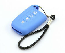 Blue Remote Silicone Shell Case Cover For Hyundai 4 Buttons Smart Key Protective