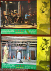 -Set of 2- Fists of Shaolin {Ying Bai} Kung Fu Martial Arts Lobby Card 70s