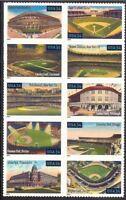 United States Scott  3510 - 3519Legendary Playing Fields Stamps Baseball Stadium