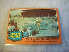 Vintage Star Wars Series 5 (Orange) Trading Card # 327 Filming The Sandcrawler