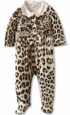 NWT Roberto Cavalli Baby Girls 6m Leopard Footed Romper Designer GIFT