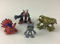 Digimon Digital Monsters Mini Figures Kubuterimon 4pc Lot Vintage 2000 Bandai