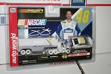 Racing Rigs Jimmie Johnson IWHEELS HO Scale Auto World Slot Car Tractor Trailer