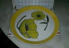 "Mikasa Ben Seibel Duet Large 12 1/4"" Platter Serving Plate Black Poppy"