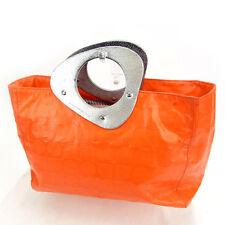 Kate Spade Tote bag Orange Silver Woman Authentic Used Y318