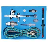 Dual Action Airbrush Kit Metal Air Brush Set Spray Gun 0.2mm Paint Tattoo Tool
