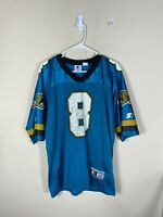 Adult 48 Starter NFL Jacksonville Jaguars #8 Mark Brunell Blue Football Jersey