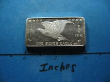 1971 FLYING EAGLE FOSTER MINT 999 SILVER ART BAR RARE FEW ON EBAY #B