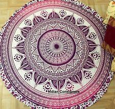Flower Mandala Handmade Beach Towel Fabric Material Soft Cotton Roundie Yoga Mat