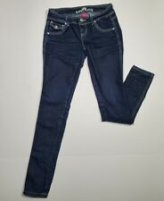 Almost Famous Low Rise Blue Jeans Dark Wash Size 3