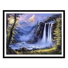 DIY Waterfall Diamond Painting 5D Mosaic Cross Stitch Embroidery Home Decor UK
