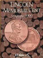 1999 - 2042  LINCOLN CENT COIN FOLDER  H. E. HARRIS / WHITMAN - BRAND NEW