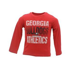 Georgia Bulldogs Official NCAA Apparel Youth Kids Size Long Sleeve Shirt New
