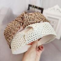 Women's Handmade Tie Hairband Headband Knot Wide Hair Band Hoop Accessories