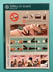 VIRGIN ATLANTIC AIRLINES SAFETY CARD--747