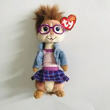 NWT Ty Beanie Jeanette Girl Glasses Chippette Alvin and the Chipmunks Plush Toy