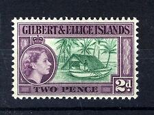 GILBERT & ELLICE ISLANDS 1956-62 DEFINITIVES 2d SG66a (shade)  MNH