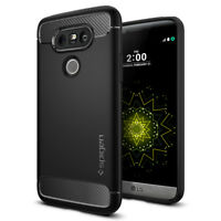 Spigen® LG G5 [Rugged Armor] Slim Shockproof Case TPU Protective Cover