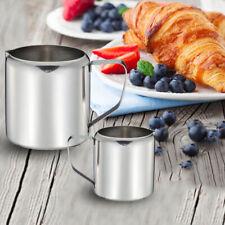 Coffee Latte Stainless Steel Jar Home Drink Sugar Milk Jug With Handle Polished
