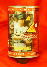 """1997/98 Pinnacle Baseball Card """"Can of Cards"""" Oakland A's  Mark McGwire"""