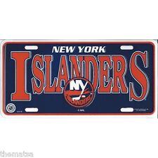 NEW YORK ISLANDERS TEAM LOGO NHL HOCKEY LICENSE PLATE MADE IN USA