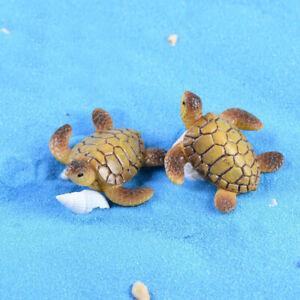 Micro Landscape Resin DIY Miniature Dollhouse Fairy Garden Resin Turtle 2pcs
