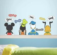 MICKEY MOUSE & friends DRY ERASE wall stickers 12 decals room decor Goofy Donald