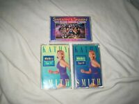 LOT of KATHY SMITH WalkFit CASSETTE TAPES Walk Fit Workout+Richard Simmons