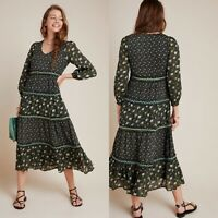 Anthropologie NWT $198 Karoline Tiered Maxi Dress Size 6