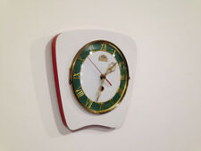 Horloge pendule formica BLANC FFR    VINTAGE     Années  50's 60's   dec5
