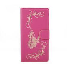 Butterfly Flip PU Leather Card Wallet Case Cover For Motorola Google Nexus 6