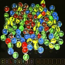 Glass Marbles Traditional Classic Toys Retro Game Party Marble 200pc Coloured