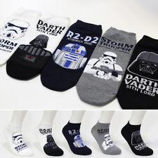 5 Pairs Star Wars Darth Vader Character Men's Socks Funny Low Cut Casual Socks
