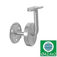 Edelstahl-Geländer VA 1.4301 42,4 mm Handlaufhalter Wandbefestigung 0112-042