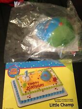 DecoPac LITTLE CHAMP BASEBALL HAT 1ST BIRTHDAY CAKE TOPPER DECORATING KIT NEW