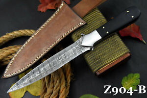Custom Damascus Steel Dagger Hunting Knife Handmade,G-10 Micarta Handle (Z904-B)