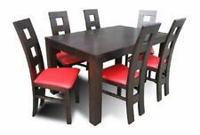 Esstisch + 6 x Stühle Esszimmer Set Essgruppe Moderne Stuhle Tisch Tische Z40