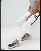 NEW MENS S L NIKE AIR SPORTSWEAR WHITE BLACK JOGGERS PANTS AJ5317 100 casual