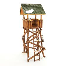 Dept 56 Snow Village Lookout Tower Faux Wood Timber Covered Fort 52829 NEW