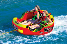 WOW Watersports Go Bot Cockpit 2P 2 Rider Inflatable Tube Boat Towable 18-1040