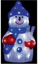38cm led acrylique bonhomme de neige noël décoration intérieur/extérieur décoration de noël